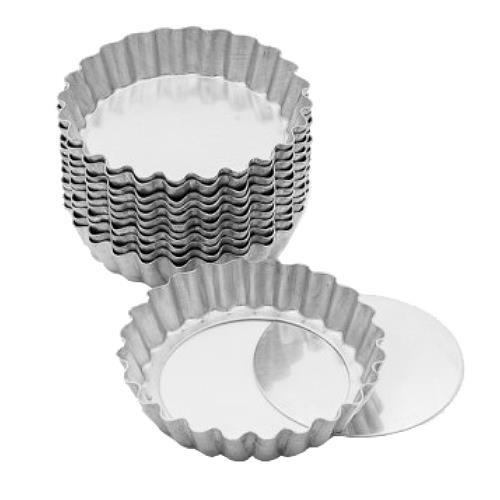 Forma Para Torta Crespa Fundo Falso 9cm 12 Unidades - Caparroz