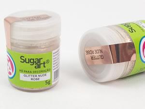 Glitter p/ Decoração Nude Rose 5g - Sugar Art