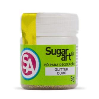 Glitter p/ Decoração Ouro 5g - Sugar Art