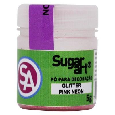 Glitter p/ Decoração Pink Neon 5g - Sugar Art