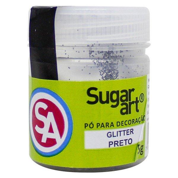 Glitter p/ Decoração Preto 5g - Sugar Art