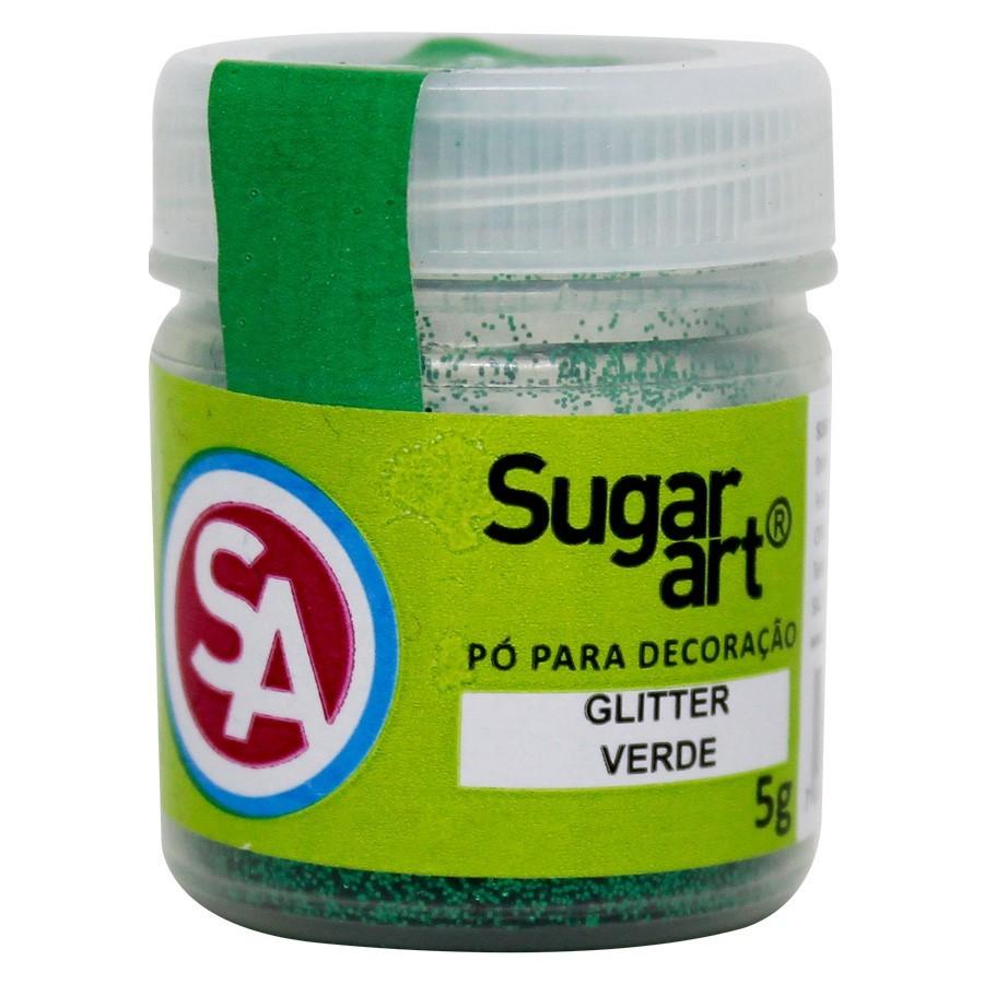 Glitter p/ Decoração Verde 5g - Sugar Art