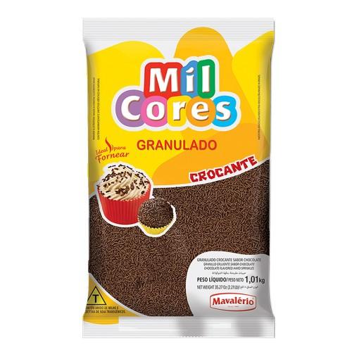 Granulado Crocante Chocolate Mil Cores 1,01kg - Mavalério