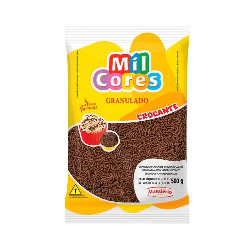 Granulado Crocante Chocolate Mil Cores 500gr - Mavalério