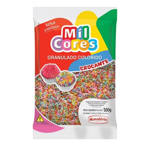 Granulado Crocante Colorido Mil Cores 500gr - Mavalério