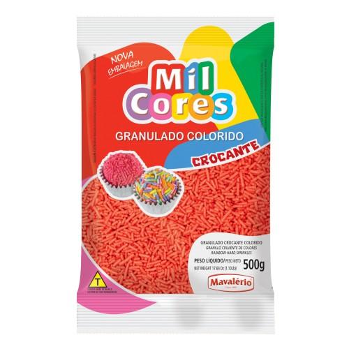 Granulado Crocante Vermelho Aquarela Mil Cores 500gr - Mavalério