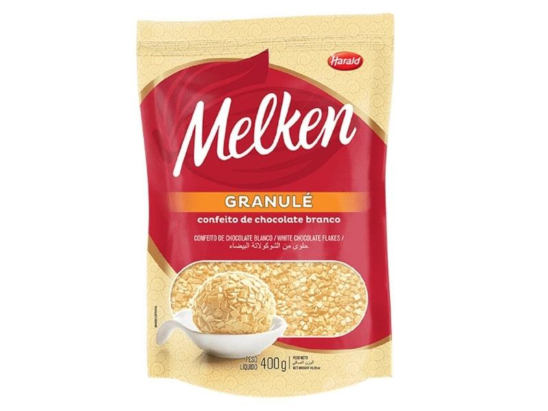Granulado Granulé Melken Chocolate Branco 400g - Harald