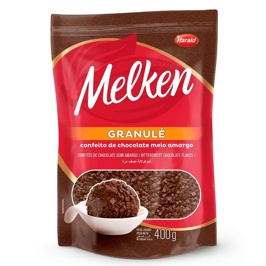 Granulado Granulé Melken Chocolate Meio Amargo 400g - Harald