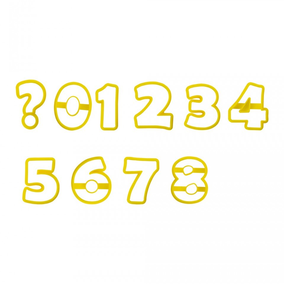 Kit Cortador Números 8,5cm - BlueStar