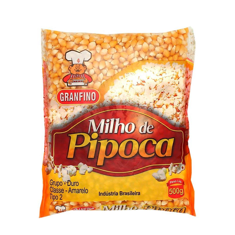 Milho de Pipoca Premium 500g - Granfino