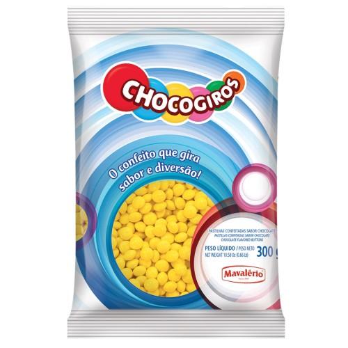 Mini Pastilhas Chocogiros Amarela Chocolate 300gr - Mavalério