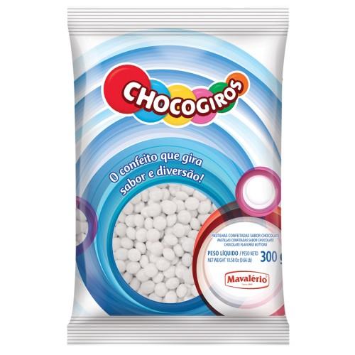 Mini Pastilhas Chocogiros Branca Chocolate 300gr - Mavalério