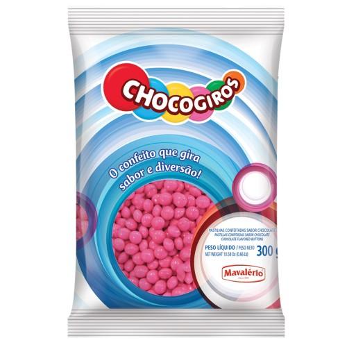 Mini Pastilhas Chocogiros Rosa Chocolate 300gr - Mavalério