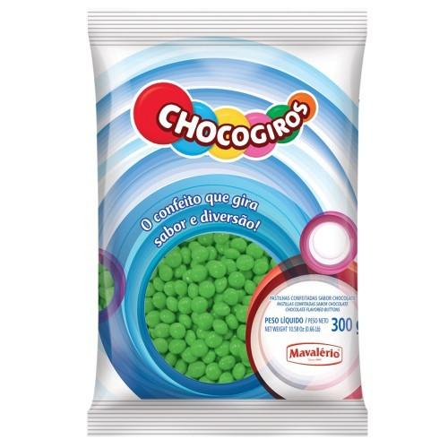 Mini Pastilhas Chocogiros Verde Chocolate 300gr - Mavalério