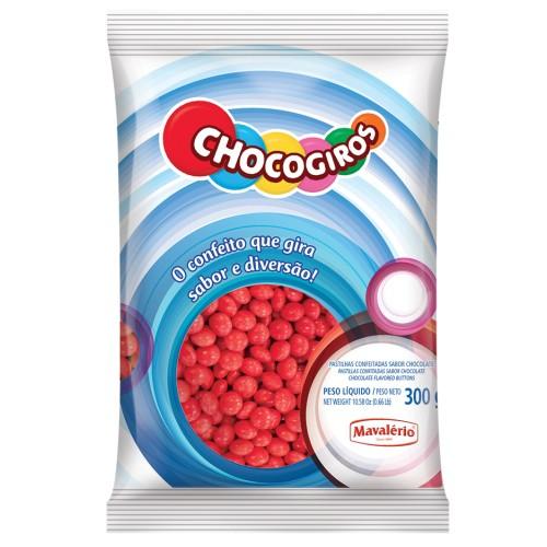 Mini Pastilhas Chocogiros Vermelha Chocolate 300gr - Mavalério