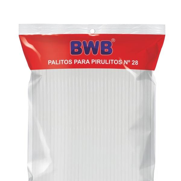Palito p/ Pirulito Grande Branco c/ 50un - BWB