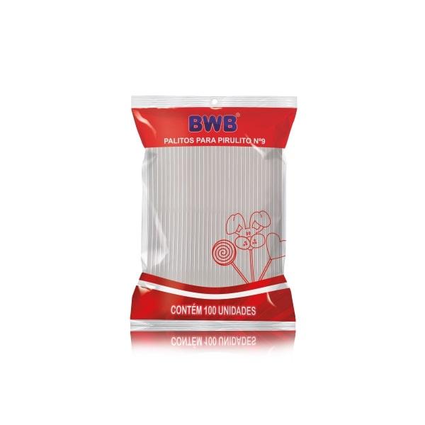 Palito p/ Pirulito Pequeno Cristal c/ 100un - BWB