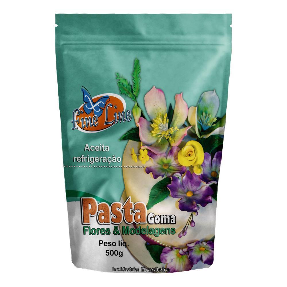 Pasta Americana Fine Goma Flores 500g- Fineline