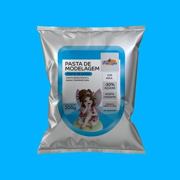 Pasta Americana Fine Modelagem Azul 200g- Fineline