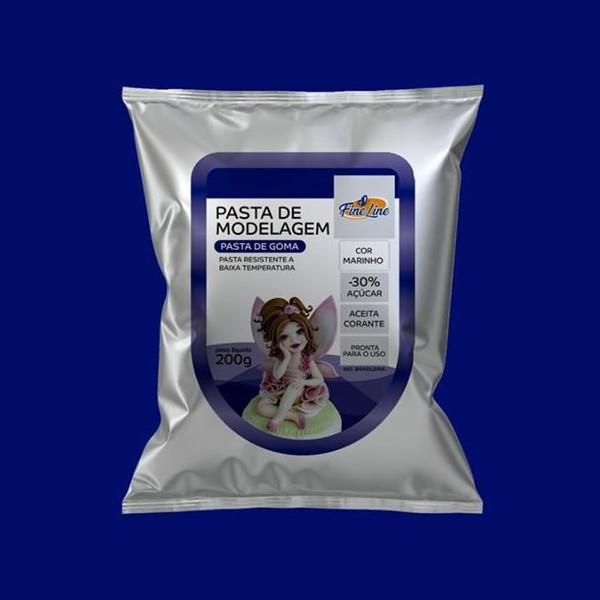 Pasta Americana Fine Modelagem Azul Marinho 200g- Fineline
