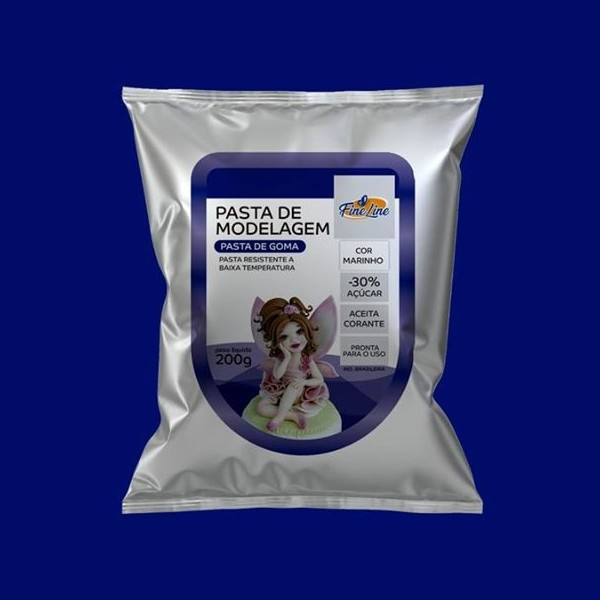 Pasta Americana Fine Modelagem Azul Marinho 200g - Fineline