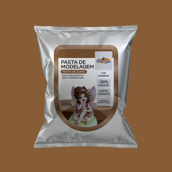 Pasta Americana Fine Modelagem Marrom 200g- Fineline