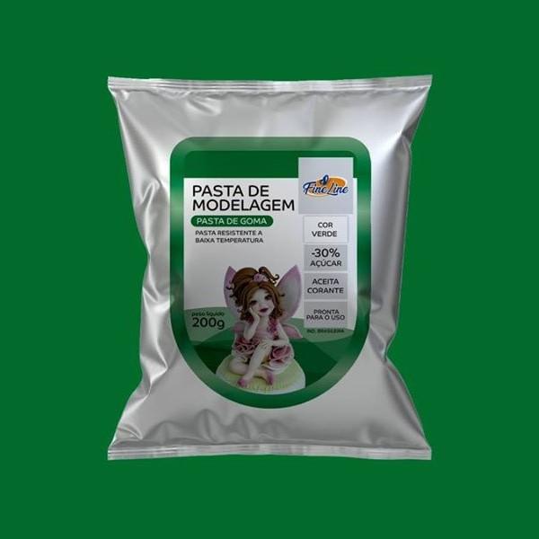 Pasta Americana Fine Modelagem Verde 200g- Fineline