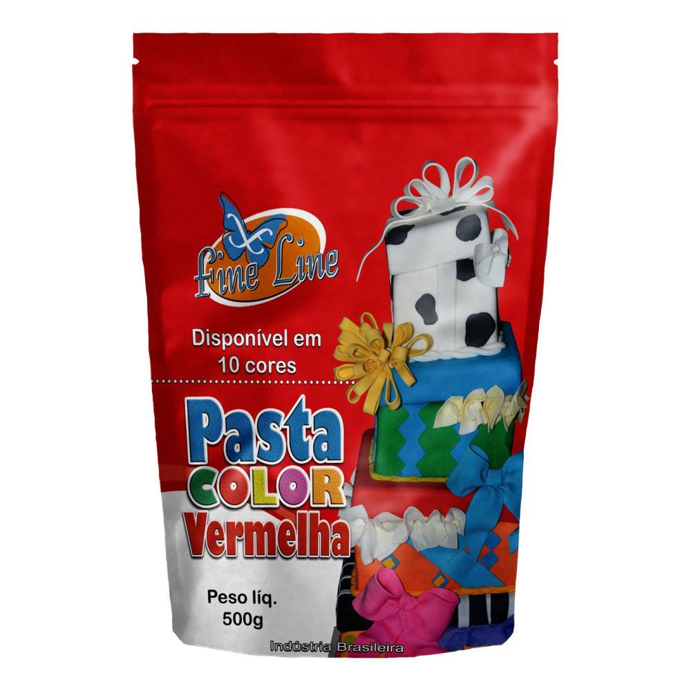 Pasta Americana Fine Vermelho 500g- Fineline