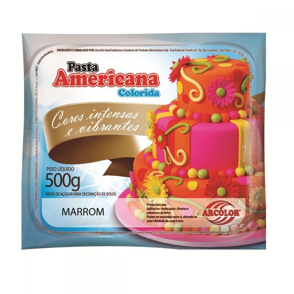 Pasta Americana Marrom 500gr - Arcolor
