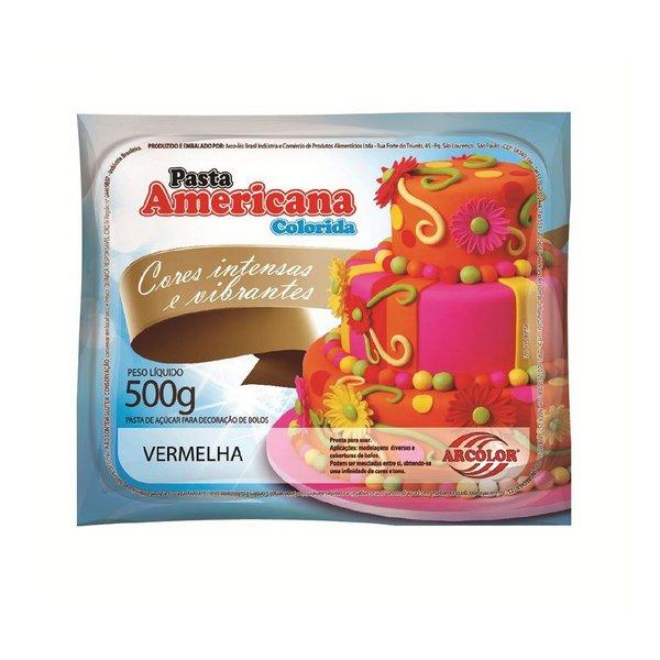 Pasta Americana Vermelha 500gr - Arcolor