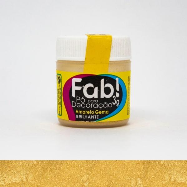 Pó p/ Decoração Amarelo Gema 3g - Fab