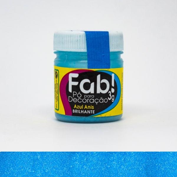 Pó p Decoração Azul Anis 3g - Fab
