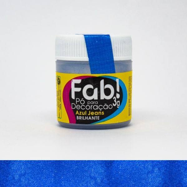 Pó p/ Decoração Azul Jeans 3g - Fab