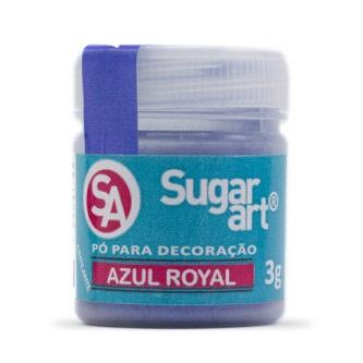 Pó p/ Decoração Azul Royal 3g - Sugar Art