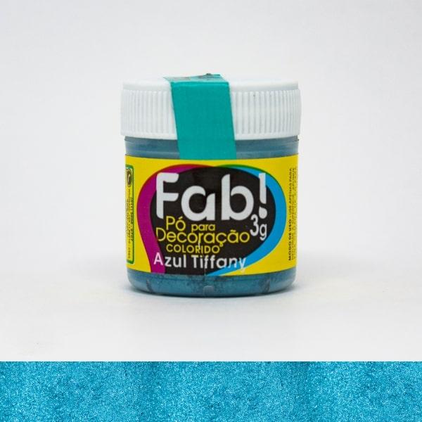 Pó p/ Decoração Azul Tiffany 3g - Fab