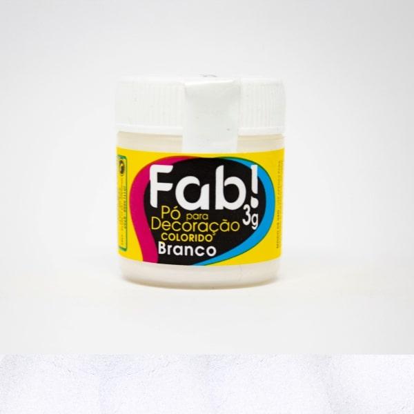 Pó p/ Decoração Branco 3g - Fab