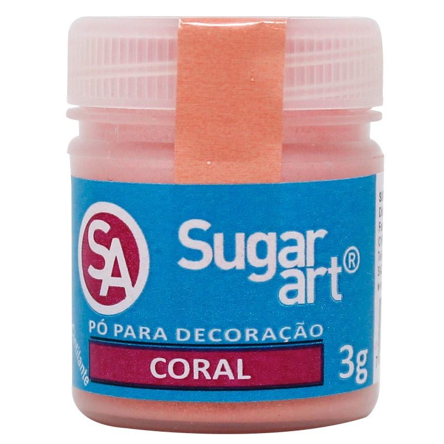 Pó p Decoração Coral 3g - Sugar Art