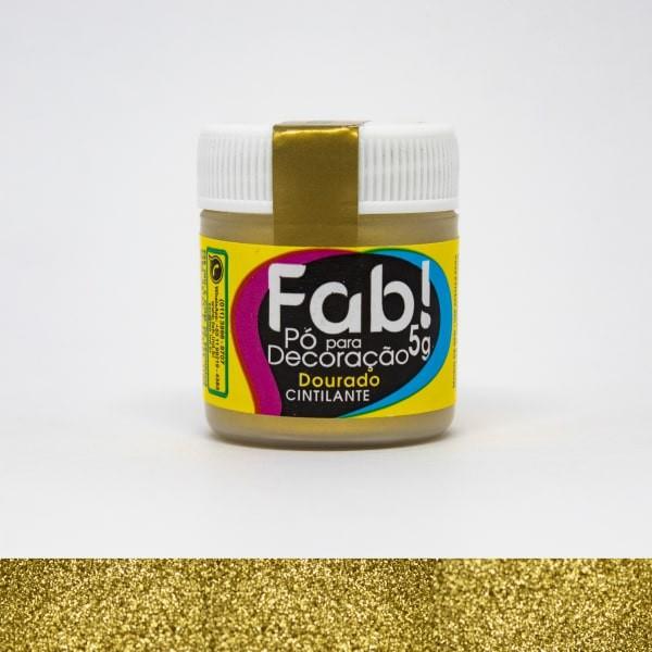 Pó p/ Decoração Dourado 5g - Fab