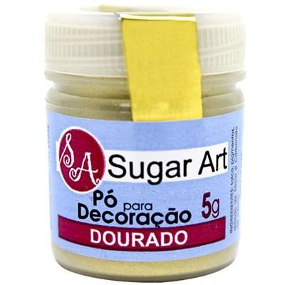 Pó p/ Decoração Dourado 5g - Sugar Art