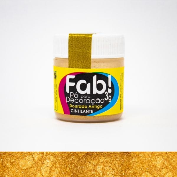 Pó p/ Decoração Dourado Antigo 3g - Fab
