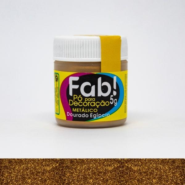 Pó p/ Decoração Dourado Egipcio 5g - Fab