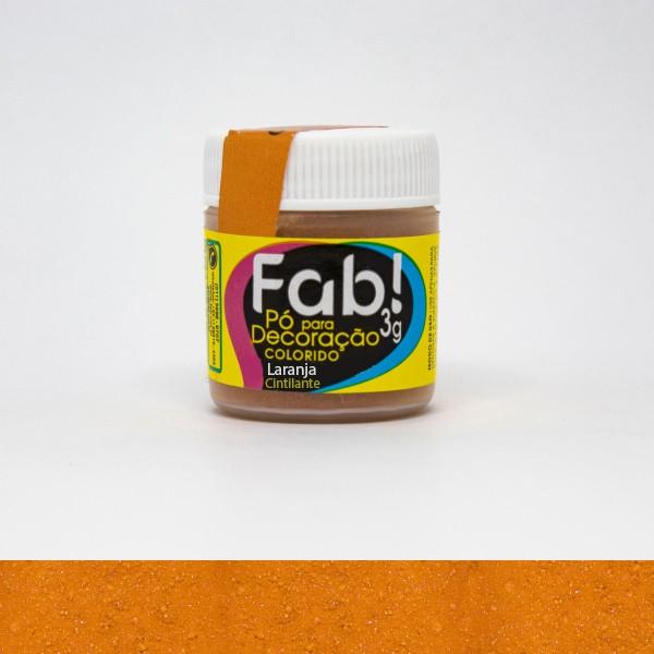 Pó p/ Decoração Laranja 3g - Fab