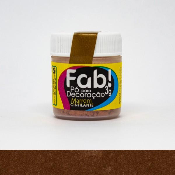 Pó p/ Decoração Marrom 3g - Fab