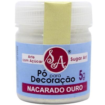 Pó p/ Decoração Nacarado Ouro 5g - Sugar Art