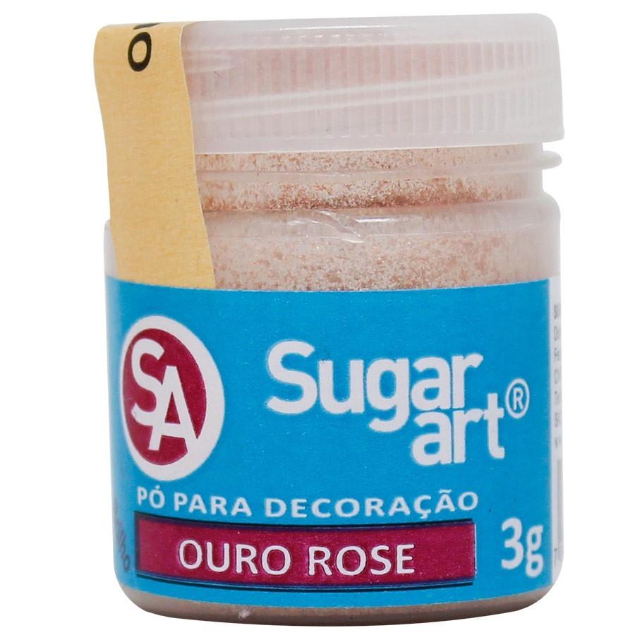 Pó p/ Decoração Ouro Rosê 3g - Sugar Art