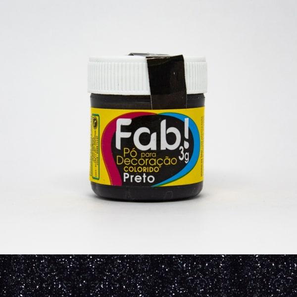 Pó p/ Decoração Preto 3g - Fab
