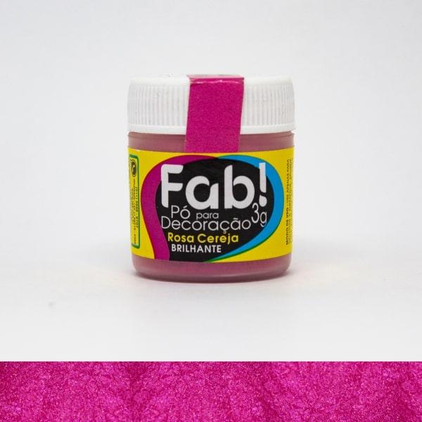 Pó p/ Decoração Rosa Cereja 3g - Fab
