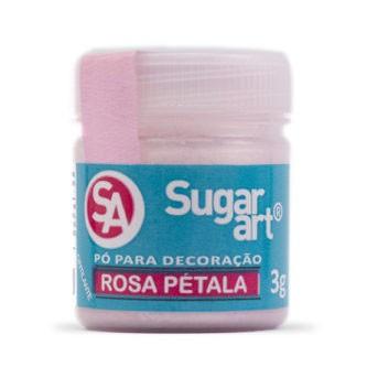 Pó p/ Decoração Rosa Pétala 3g - Sugar Art