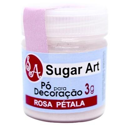 Pó p Decoração Rosa Pétala 3g - Sugar Art