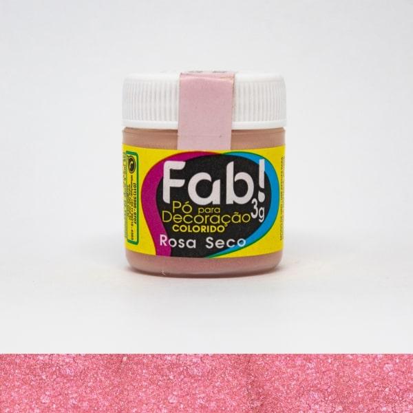 Pó p/ Decoração Rosa Seco 3g - Fab